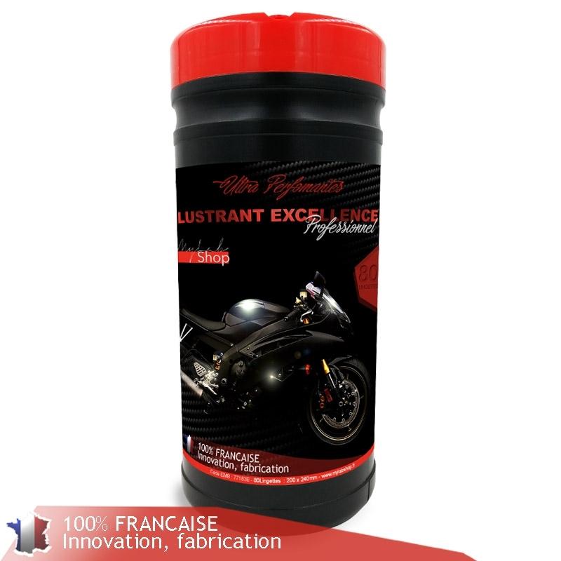 Lingettes moto, boîte de 80 lingettes pour carénage brillant moto lavage sans eau mylabshop